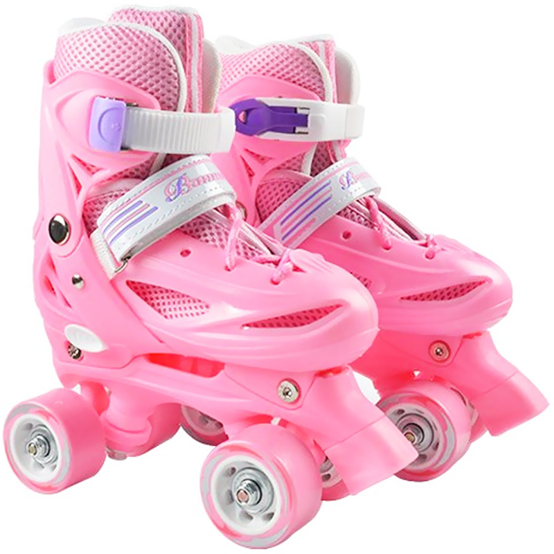 Kid's Roller Skates Size Adjustable Double Row Skates Two Line PU Roller Skate Shoes Child Teenagers 4 Wheels Patines Shoes IB03 eur size 20 30 adjustable children roller skates 2 colors double row 4 wheels skating shoes kids two line toy patines gifts car