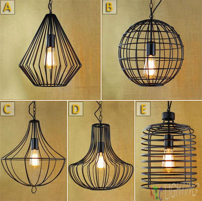 купить NEW MODERN VINTAGE INDUSTRIAL RETRO LOFT GLASS CEILING LAMP SHADE PENDANT LIGHT  luces decorativas pendente de teto country недорого