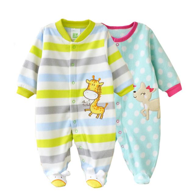 2 Unidades/Packs Polar Bebé Monos Infantiles Mamelucos Del Bebé Niñas niños Ropas Sobretodo Pierna Super Suave Entrega Al Azar V20