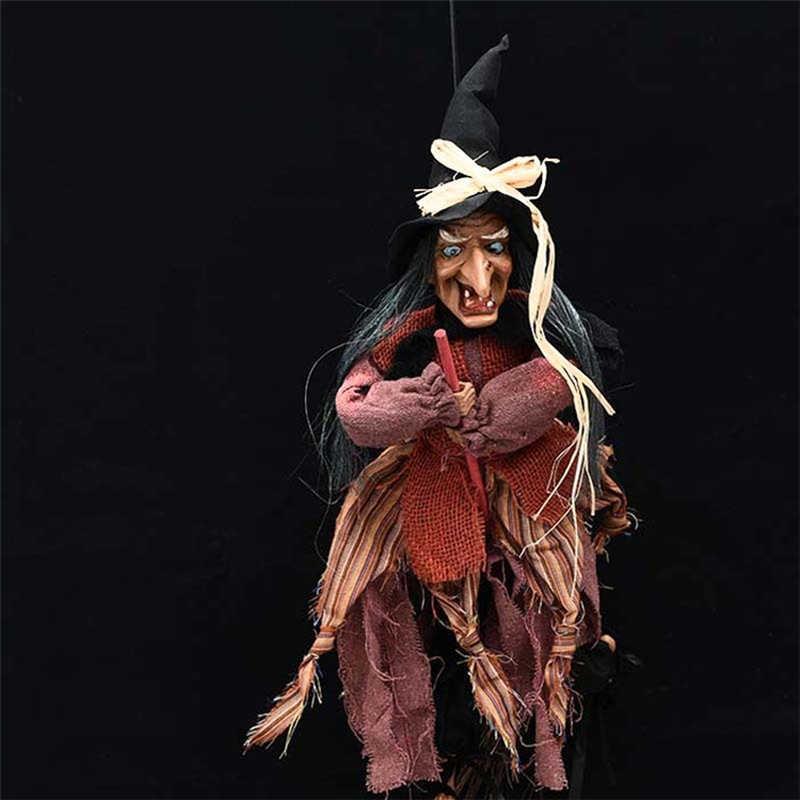 Animasi Horor Halloween Penyihir Dekorasi Pintu Bar Club Halloween Hantu Menyeramkan Boneka Gantung Mainan Menakutkan Pesta Halloween Alat Peraga