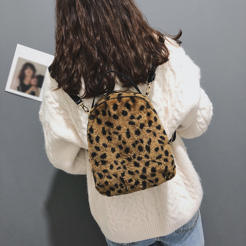 Altbest Blown 2019 Leis Women Corduroy Leopard Print School Bag Backpack Satchel Travel Shoulder Bag Leopard Print Letther #g35 Cheapest Price From Our Site Backpacks