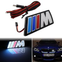 Car Styling M Logo Car Front Hood Grille Emblem LED Light For BMW E46 E39 E90