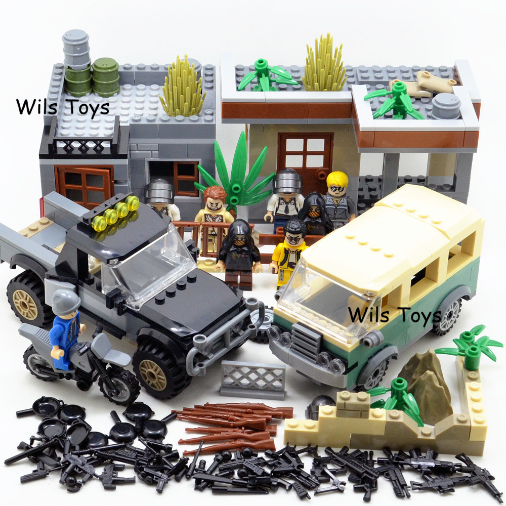 2018 NEW PUBG FPS Game MILITARY Winner Winner Chicken Dinner Soldier Army SWAT Building Blocks Figures Educational Toys Boys Set