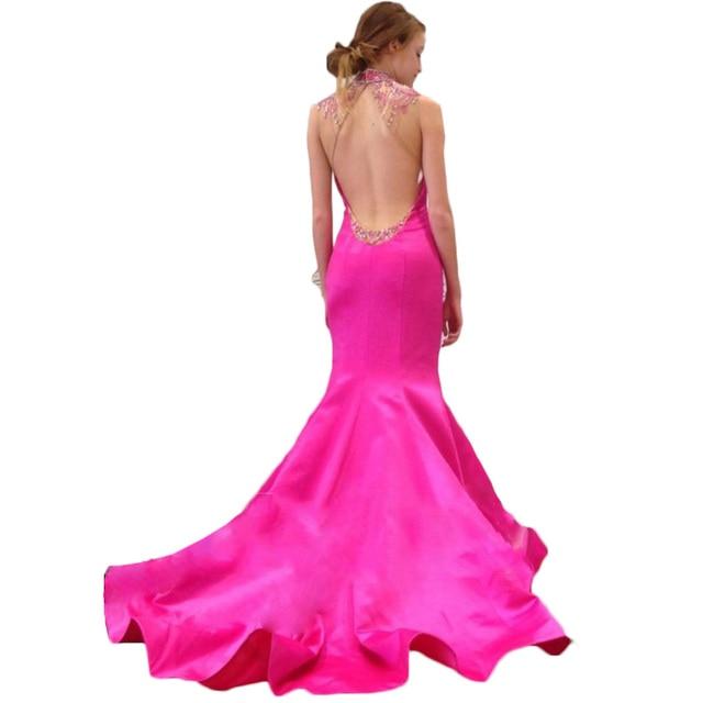 2016 Backless atractivo del baile vestidos largos elegantes de Hot ...