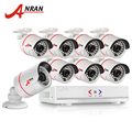 Hotting 1080n anran 8ch hdmi dvr sistema de gravador de vídeo à prova d' água cctv ahd 720 p 1800tvl home security kit câmera de vigilância