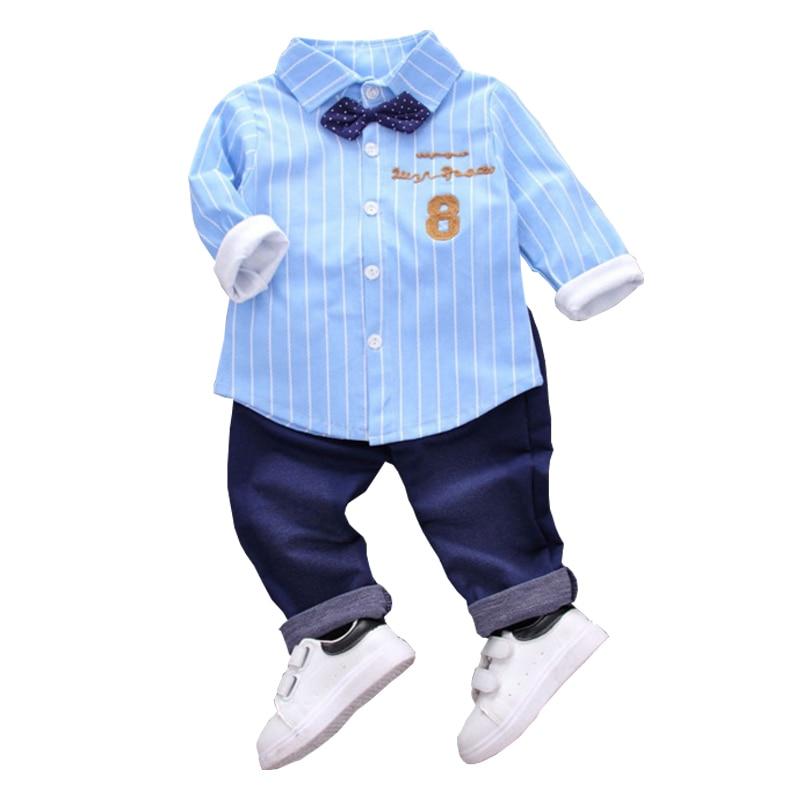 2019 nouvelle mode bébé coton vêtements tenues enfants garçons filles chemise pantalon 2 pièces/ensembles été enfants survêtements Bowknot vêtements