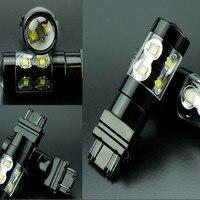 2 STKS auto led rogue achteruitrijlichten 1156 1157 H1 H7 H4 T25 3156 50 W LED mistachterlichten hoogtepunt turn lichten