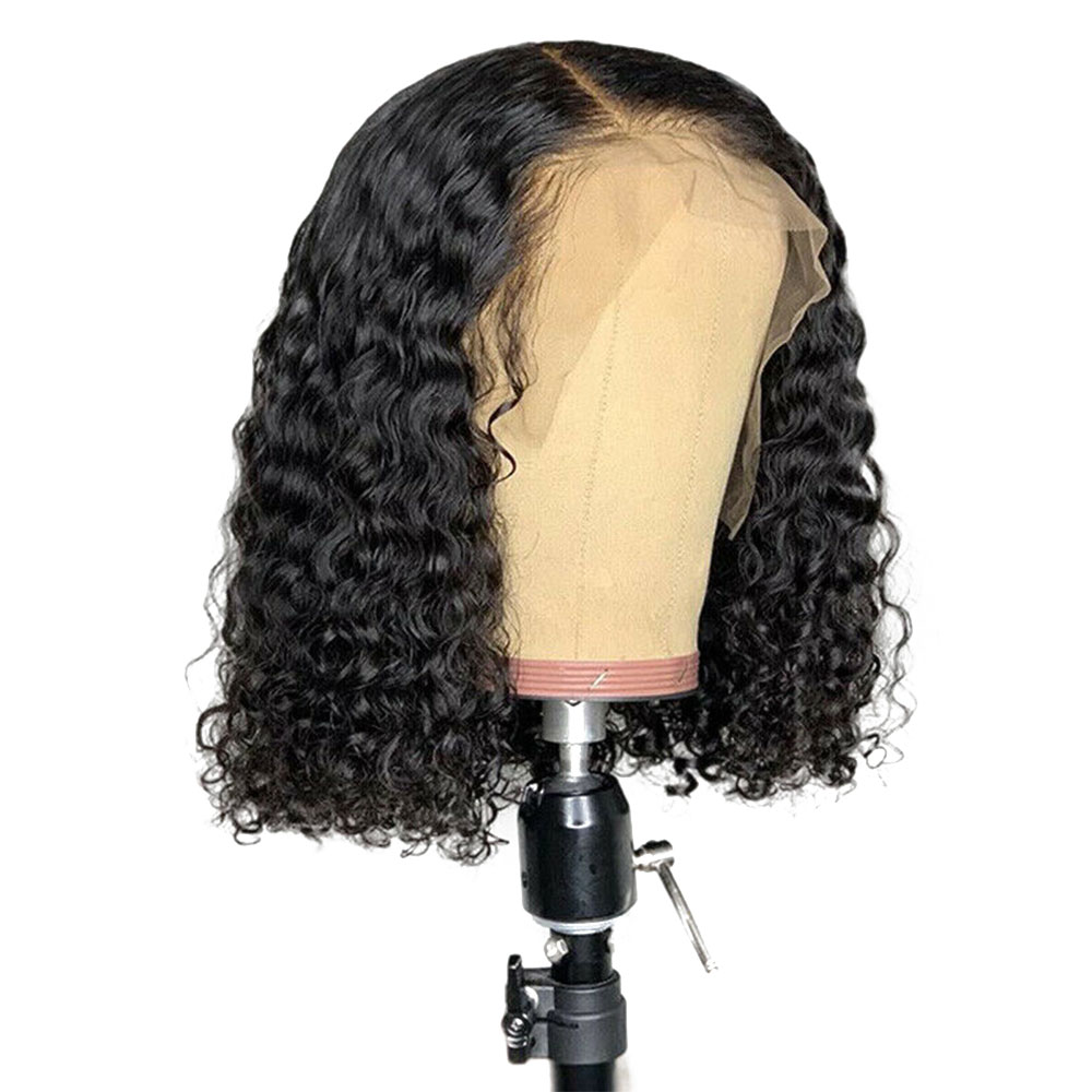 "Eseewigs 180% 360 Lace Frontal Wig Pre Plucked with Baby Hair Curly Brazilian Remy Human Hair Natural Black Color 8""-24"" 150%(China)"