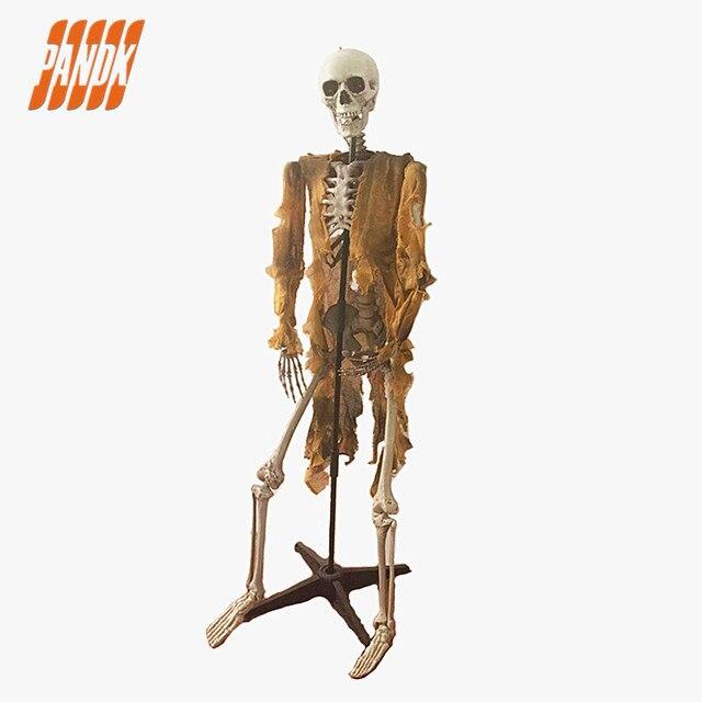 Skelet Voor Halloween.Us 99 99 65 Staande Plastic Skelet Halloween Skelet Decoraties Vakantie Rekwisieten Spookhuis Schedel Skelet Botten Gratis Verzending In 65