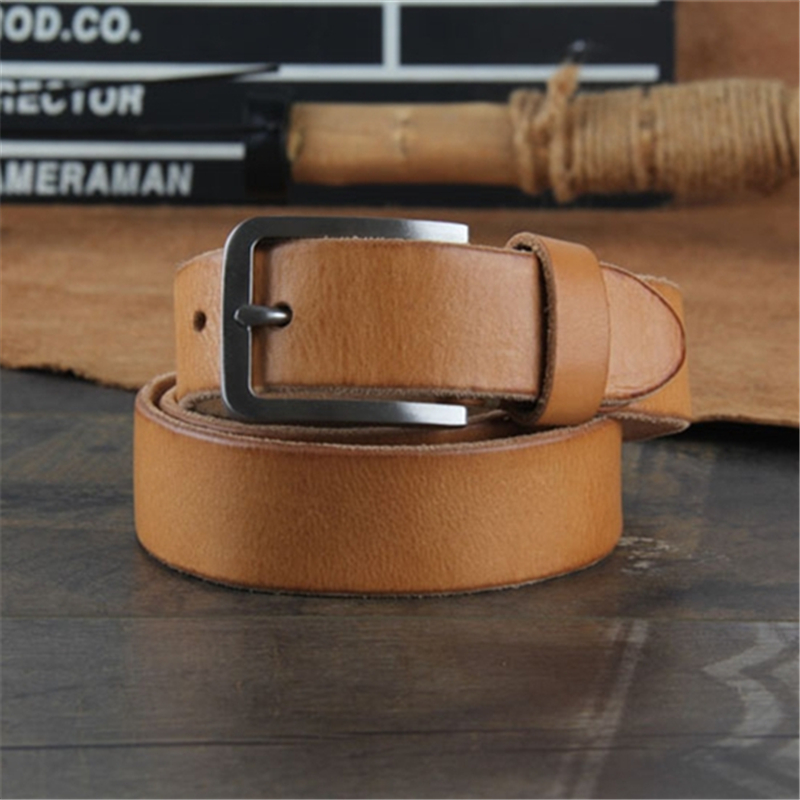 Quality Real Stainless Steel Belt Buckle Men Belt Genuine Leather Belt Men Ceinture Homme Riem Male