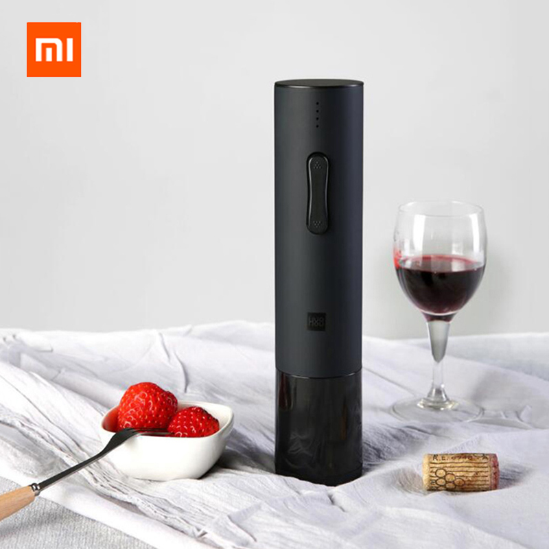 Xiaomi Huohou Automatic Bottle Opener Red Wine Stopper Kit Decanter Stopper Electric Corkscrew Foil Cutter Cork Out Tool