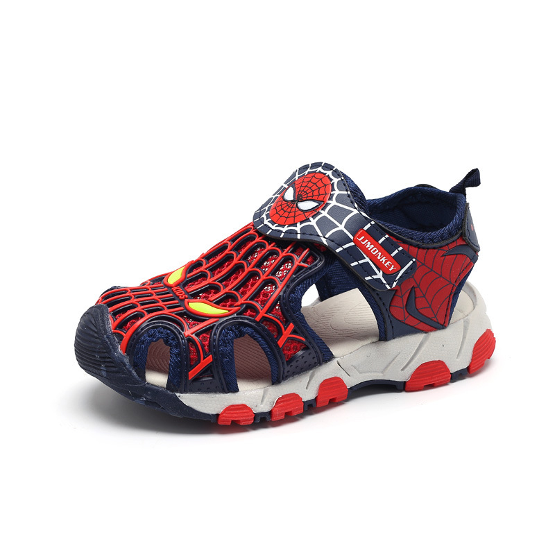 New Summer Casual Spiderman Boys Sandals Kids Shoes Infantil Boys Beach Sandals Fashion Soft Flat Shoes Size 26-36New Summer Casual Spiderman Boys Sandals Kids Shoes Infantil Boys Beach Sandals Fashion Soft Flat Shoes Size 26-36