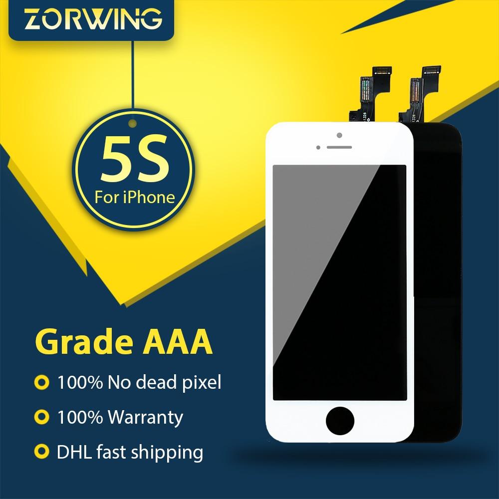 imágenes para 20 UNIDS 5S AAA Al Por Mayor 100% Probado Pantalla LCD Para el iphone Pantalla Táctil Con Digitalizador de Reemplazo de Piezas de Montaje