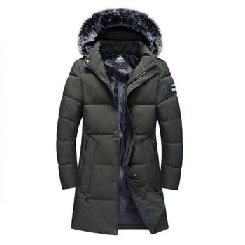 Hooded Long Down Jackets Men Winter Thicker Warm Coats High Quality Men Outwear Casual Slim Down Jackets Warm Parkas Size 4XL