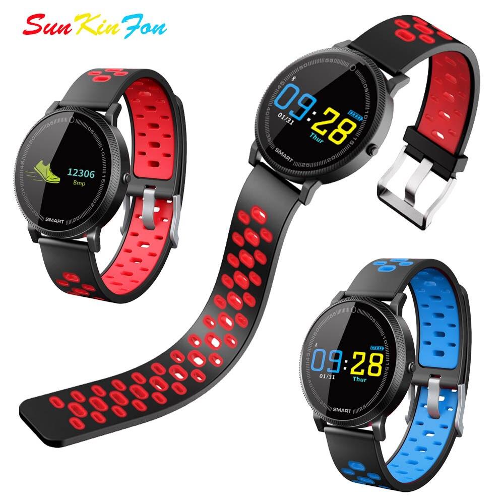 Pantalla de Color inteligente deportes pulsera ritmo cardíaco rastreador de Fitness pulsera inteligente presión arterial reloj para Huawei Mate RS 10 Pro 10
