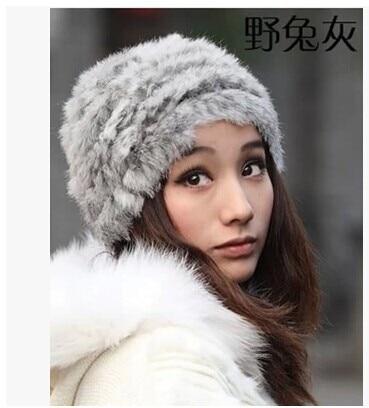 Darmowa wysyłka Han wydanie wydra włosy królika czapka z dzianiny - Akcesoria odzieżowe - Zdjęcie 4