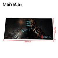 Maiyaca borde mousepad extendida 900*400mm espacio muerto Rojo Negro Grande Gaming Alfombrillas para ratón