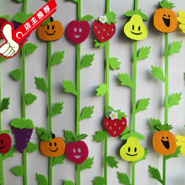 fruit wall door sticker children room decoration baby birthday