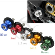 6mm Motorcycle 8 Color CNC Swingarm Sliders Spools Screw For Yamaha Dirt bike XT660 / WR250 / WR125 / XT125/ FZ6 / YBR