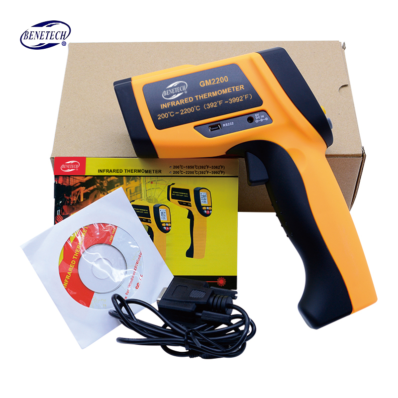 BENETECH Digital thermometer gun non contact infrared thermometer laser Pyrometer professional industrial temperature gun ir portable non contact digital infrared thermometer laser pyrometer from 50 to 380 degree handheld ir temperature measurement gun