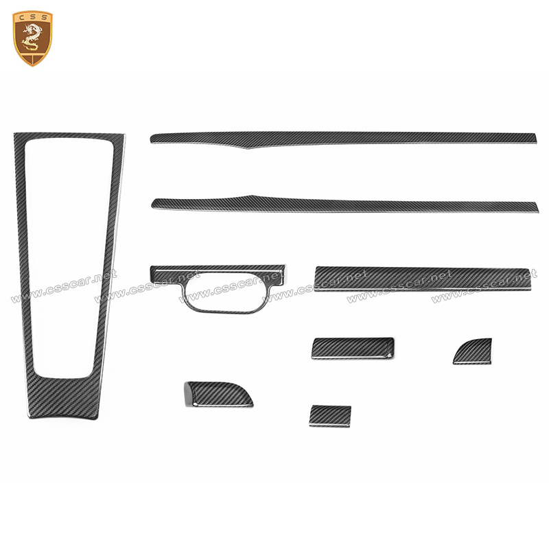 Real Carbon Fiber Interior Trim For 718 981 911 Boxster Cayman Carrera Dashboard Central Control Door Panel Carbon Interior Trim