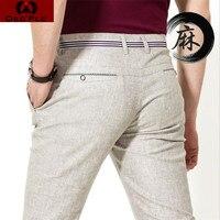 2015 Fashion Men Pants Linen Casual Pants Trousers For Men Breathable Cosy Summer Linen Men Business