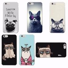 Cute Funny Grumpy Cat Soft Phone Case Cover Coque Fundas For iPhone 7 7Plus 6 6S 6Plus 5 5S SE 5C 4 4S SAMSUNG GALAXY