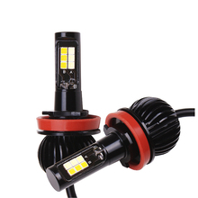 High Bright 35W Car LED Front Fog Light Bulbs H4 H1 H7 H8/H11 9005/9006 H3 880 881 3800LM 12V 3030 CSP 3000K 6000K Lamp