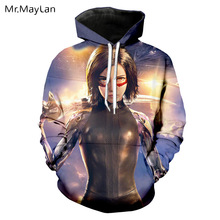 Mechanical Girl Movie Alita: Battle Angel 3D Print Jacket Women/men Unisex Streetwear Hoodie Girls Cool Sweatshirt Spring Coat