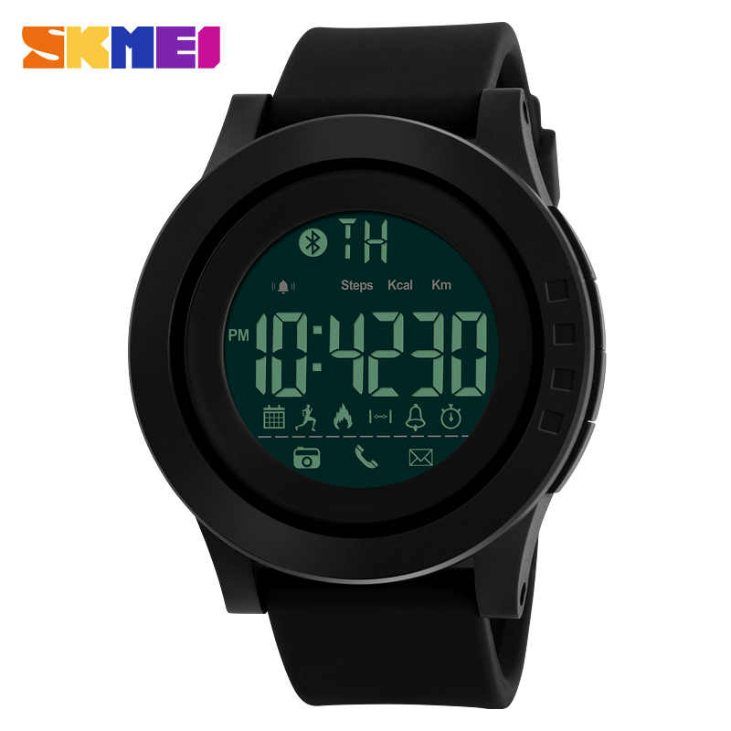 SKMEI Fashion Men Sport Smart Watch Pedometer Remote Camera Bluetooth Digital Watches Men 50M Waterproof Relogio Masculino