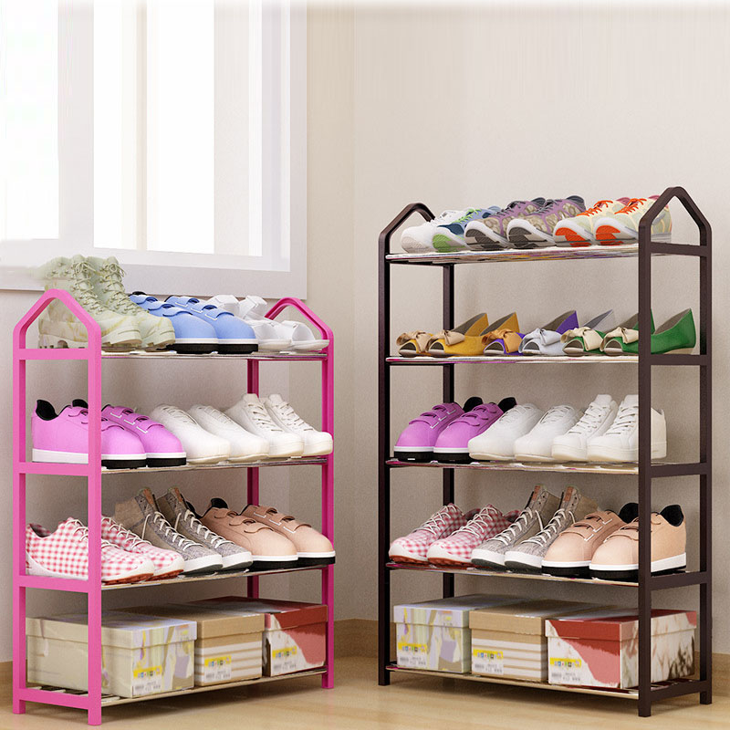 Multi-layers Metal Iron Simple Shoes Shelf Student Dormitory DIY Shoes Storage Rack Small Shoes Cabinet Home Furniture Shelves chrome metal wardrobe 2 layers rolling wheels storage rack 36x18x72 hot sale