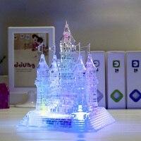 クリエイティブビルディングブロックのおもちゃ DIY 城 3D クリスタルビルディングブロック子供城建設パターンのおもちゃ子供教育玩具 1
