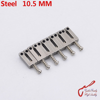 1 Set 6 Pcs High Quantity GuitarFamily Steel Saddle Electric Guitar Bridge Saddle 10 5MM MADE