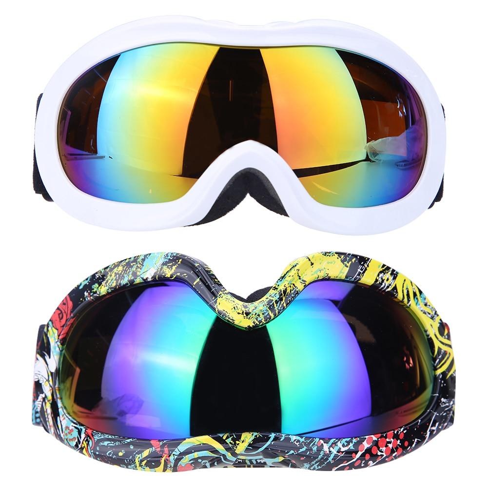 Prix pour Unisexe Professionnel Ski Lunettes 2 Double Lentille Anti-brouillard Faible Lumière Anti-brouillard Sphérique Ski Lunettes Hommes Femmes Lunettes de neige