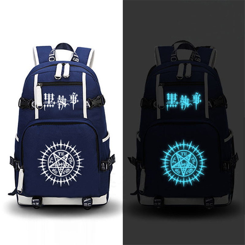 Anime Black Butler Ciel Cosplay Printing Laptop Bags Canvas Fashion Rucksack School Backpacks for Teenage Girls Mochila Feminina sosw fashion anime theme death note cosplay notebook new school large writing journal 20 5cm 14 5cm