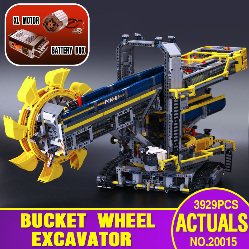 Lepin Technic Excavator 3929 Pcs Seri 20015 2016-New-LEPIN-20015-3929Pcs-Technic-Bucket-Wheel-Excavator-Model-Building-Kit-Blocks-Brick-Compatible-Toy