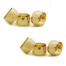 4PCS Metal Alloy Vintage Napkin Wedding Hotel Banquet Napkin Ring Gold / Bronze