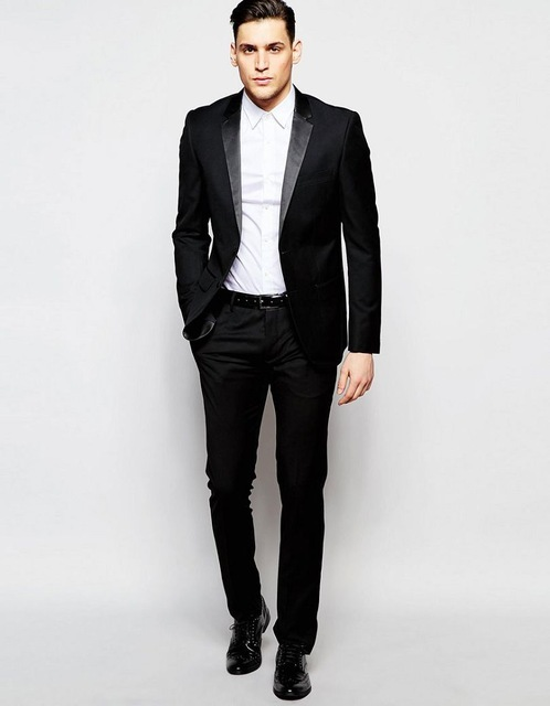 759327d2565838 2017 Antony Morato Tuxedo Black In Super Slim Fit Man Suit Custom Made  Tuxedos Groomsman Suit Wedding Suit(jacket+pants)