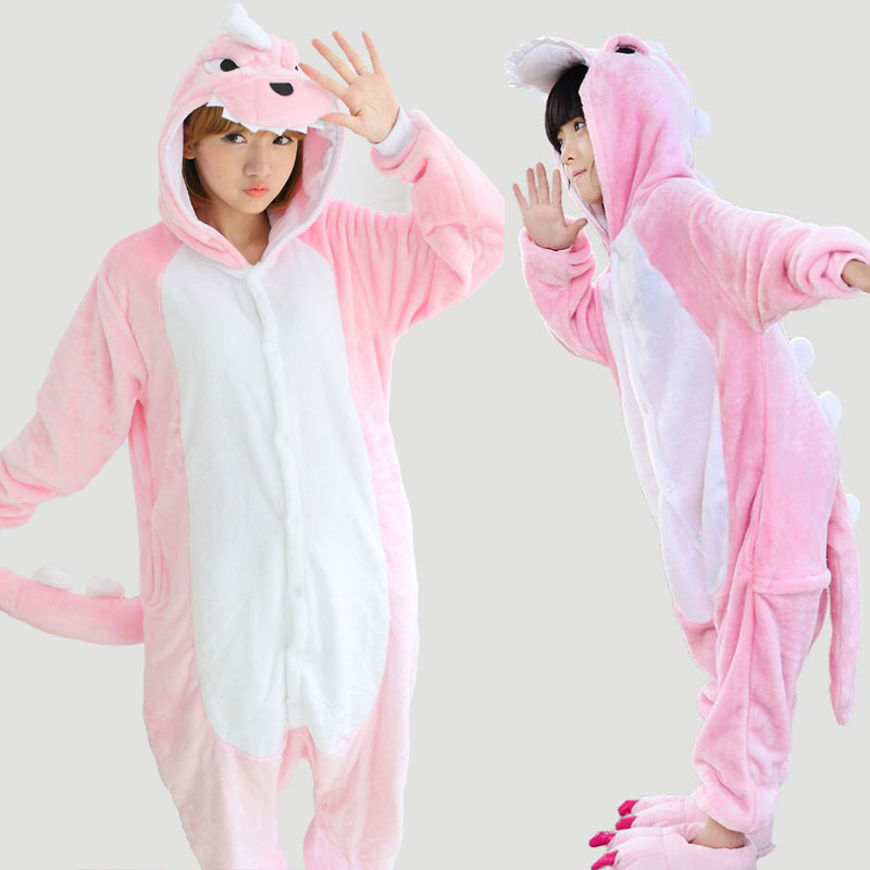 2017 Family Pajamas Onesie For Women Kids Pink Dinosaur Pijamas Winter Flannel Sleepwear Sell On Chinese-market-online TC025
