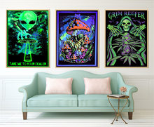 Psychedelic Trippy Poster Abstract Blacklight Paintings Art Prints Modern Wall Canvas Wall Pictures For Living Room Home Decor(China)