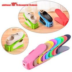 Zapatos multicolores para exhibir sapadeira organizador de espacio de almacenamiento de plástico rangement chussures de zapatos # TX5