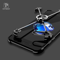 X Shape Phone Case For IPhone 7 7 Plus Luxury Personality Shell Metal Border For IPhone