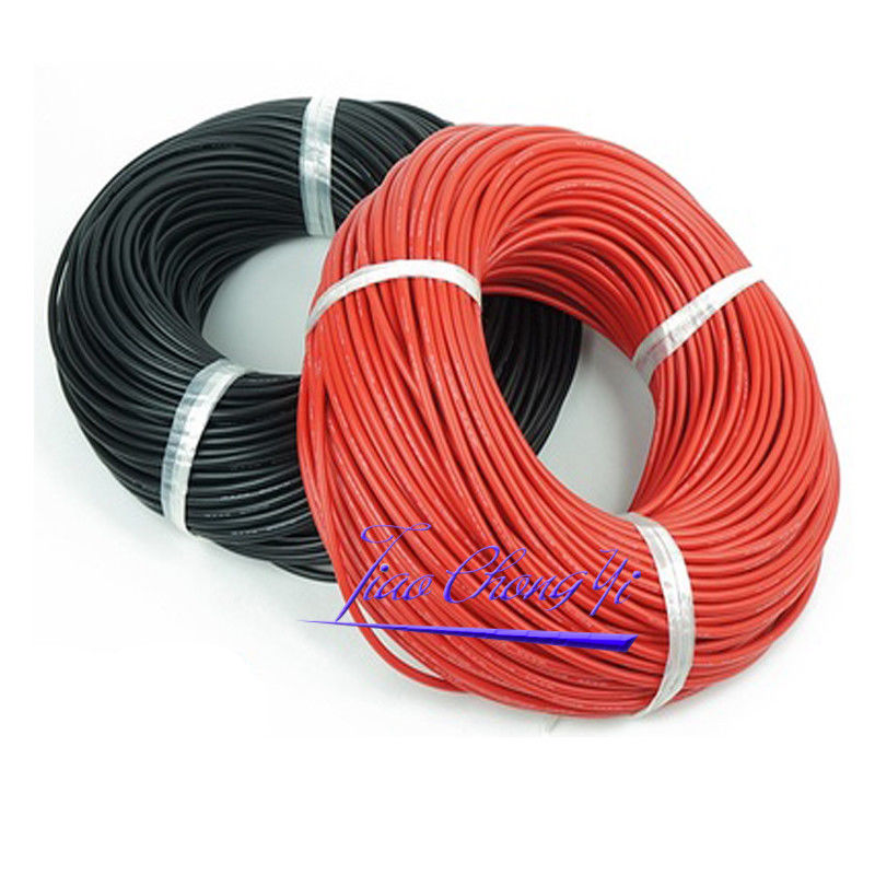 1/2/5/10M Silicone Wire Cable 12 14 16 18 20 22 AWG For RC Auto Car Wiring