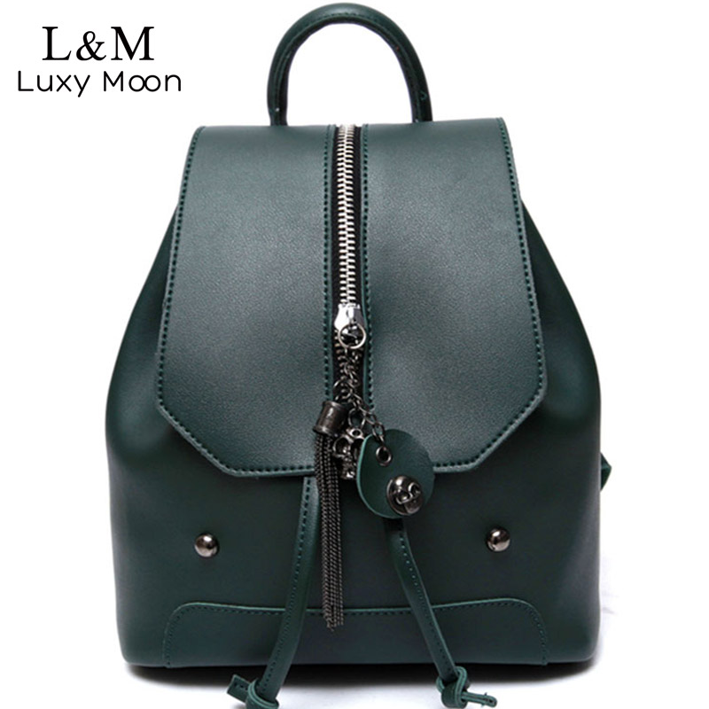 Vintage Backpack Women Leather Rucksack High Quality PU Leather School Bag For Teenage Girls Shoulder Bags