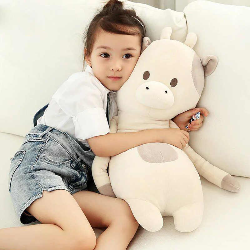 Диван украшения хлопок медведь корова крупного рогатого скота Животные игрушка-подушка симпатичный номер кровать лиса кролик подушки корова детей Для мальчиков и девочек подарок