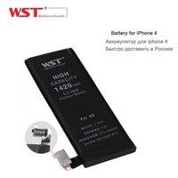 Kökeni WST 1420 mAh pil iphone 4 pil değiştirme araçları ile iPhone 4 için, perakende paketi ve ücretsiz kargo