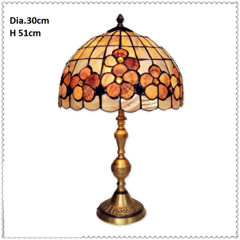 LukLoy American Retro Copper Shell Table Lamp European Bedroom Bedside Table Lamp Living Room Study Eye Protection Table Light european style retro table lamps mediterranean solid wood table lamp living room lamp bedroom lamp country table lightin lu71363