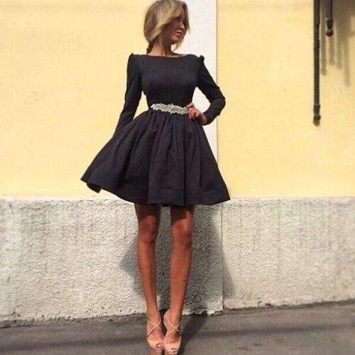 Donne sexy soffio vestito della signora slim manica lunga vestito a  palloncino partito abito di sfera delle donne del vestito vestito dal tutu  2015 nuova ... f7bf1caf0fb