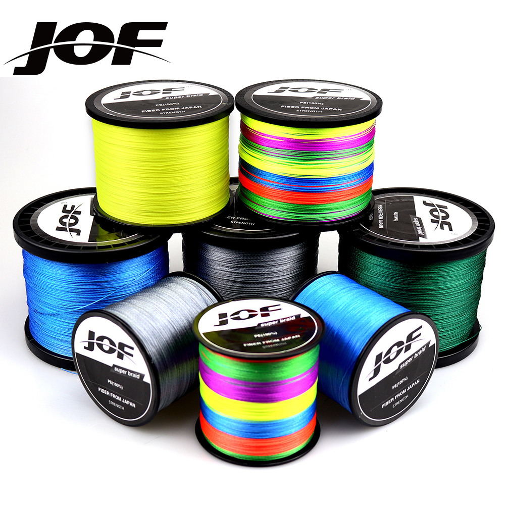 JOF 9 Strands 8 Strands 300M 500M 1000M PE Braided Wire Multifilament Fishing Line Carp Fishing Tackle
