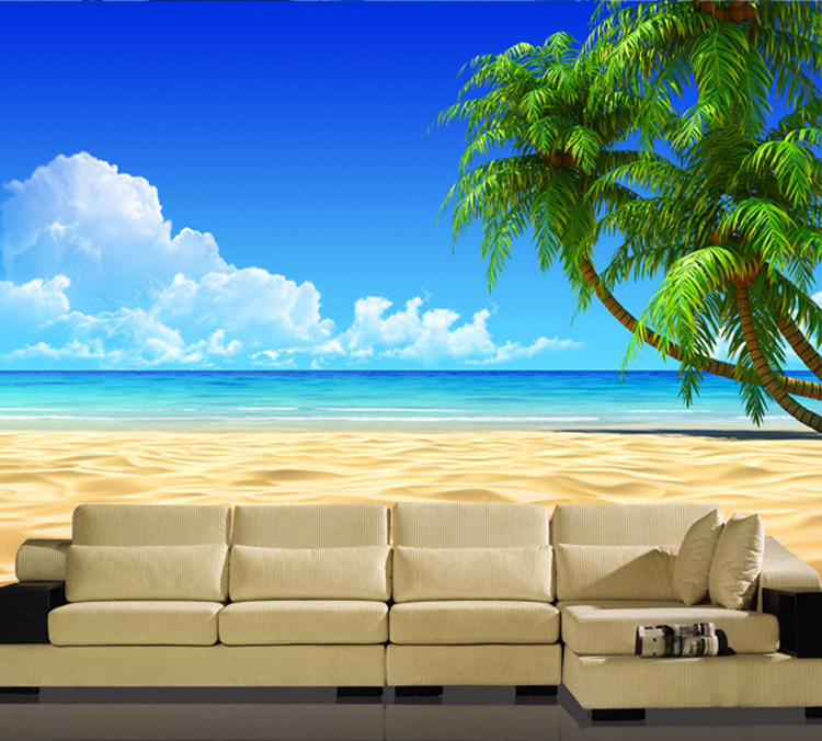 Wall Seamless Stereo Sea View 3D Wallpaper Ocean View